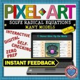 PIXEL ART: Solve Radical Equations - MANY MODELS DISTANCE Math Stations, Math Centers, Interactive Activities, Teacher Resources, 12th Maths, Secondary Teacher, Teaching Materials, Fun Math, Core Collection