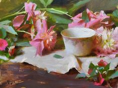 Daniel Keys gathers visions of beauty and shares them through his art The Joy Of Painting, Realistic Oil Painting, Painting Still Life, Still Life Art, Daniel Keys, Tea Cup Art, Still Life Flowers, Keys Art, Southwest Art