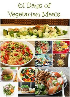 In May and June, it's hot! So, this vegetarian meal plan is all about salads and stuff that doesn't take too long to cook. Nobody wants to have an oven on for 2 hours when it's 110 degrees out, rig...