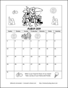 august 2014 printable coloring calendar january 2013 calendar yearly calendar calendar printable kids