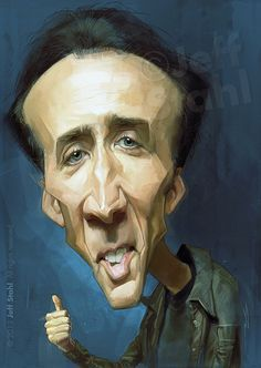 Nicolas Cage, by Jeff Stahl by JeffStahl on deviantART