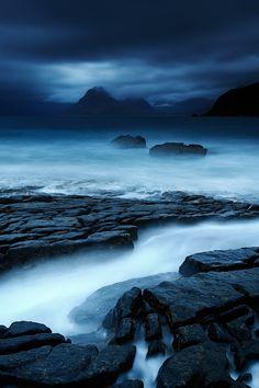 "travelbinge: ""Elgol darkness by Fred Bucheton Isle of Skye, Scotland """