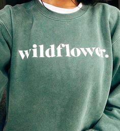 wldflwr.shop sea foam green crewneck sweater. you are wild, wonderful and perfectly in process