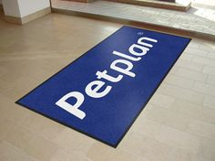Custom logo mats supplied to Petplan UK! Free visuals created for all customers prior to ordering!