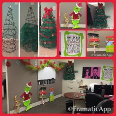 Dr. Seuss themed Christmas decorations for my office area at work. I made it all myself :)