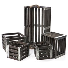 Rustic Wood and Metal Crates - so many uses for these babies!