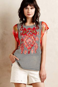 Embroidered Mandala Tee - anthropologie.com