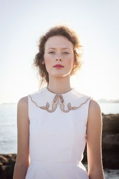 mermaid collar dress by Silvia Soler boutique | photo by Alba Soler