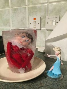 Elsa and the frozen elf don't forget to put elf in a ziploc bag before freezing