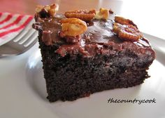 The Country Cook: Coca-Cola Cake this recipe calls for choc pudding as well