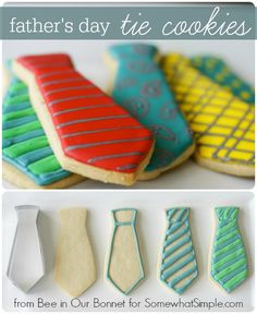 We're Knot kidding, you have to try these Tie cookies! A wonderful treat for working dads everywhere!  #3brothersbakery