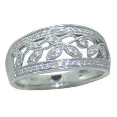 0.25 cttw. Diamond Band  https://www.goldinart.com/shop/diamond-bands/0-25-cttw-diamond-band #DiamondRings, #WhiteGold