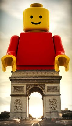 ACCESS agency for LEGO - amazing oversized concept promotion for the city of Paris.