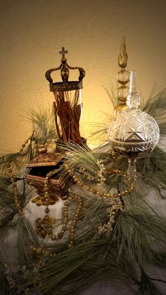 Gifts of Gold, Frankincense and Myrrh are adorn our Christmas Altar at our local church. Check out Party with Pizzazz on Facebook for more pictures.