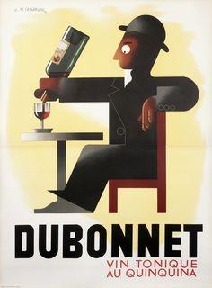 Dubonnet (Mouron edition) by Cassandre, A. M. | Shop original vintage #posters online: www.internationalposter.com