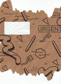 Funky envelope branding - pinned by www.amgdesign.co.nz #branding #design