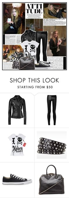 """Avril Lavigne"" by nathaly-14 ❤ liked on Polyvore featuring Vanity Fair, Jitrois, The Row, Abbey Dawn, Linea Pelle, Converse and Valentino"