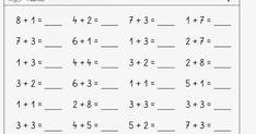 ich habe meine Kopfrechnenzettel   im Zahlenraum bis 10 nochmal dem angepasst,   was viele Kinder jetzt können   Bei mir werden diese Arbei... Color Worksheets For Preschool, Addition And Subtraction, Pinterest Blog, Parenting Hacks, Improve Yourself, Claire, Classroom, Kids, Kids Math