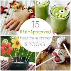 If you liked the yogurt covered frozen strawberries check out these 15 Kid-Approved Healthy Summer Snacks from Spoonful! Not only do they taste good! They're fun and look good!