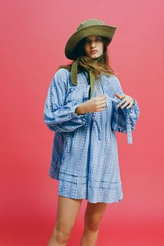 Shop UO Jai Embroidered Long Sleeve Frock Dress at Urban Outfitters today. We carry all the latest styles, colors and brands for you to choose from right here. Frock Dress, Boho Dress, Urban Dresses, Blue Dresses, Urban Outfitters Outfit, Latest Dress, Frocks, Girl Fashion, Long Sleeve