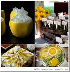 yellow theme party, parties in yellow, yellow table arrangments, yellow wedding theme, yellow bridal shower