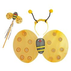 These bee costume accessories will make your little bee lover the center of attention at their next dress up party. Suitable for ages 2 - Set Includes: Wings Bee Ears Bee Wand Bee Wings, Childrens Fancy Dress, Fancy Dress Outfits, Wands, Washer Necklace, Costumes, Dresses, Girls, Vestidos