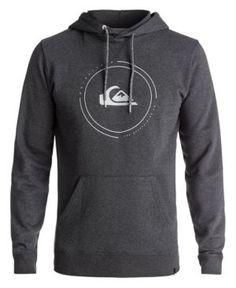 0aa634083911 Quicksilver Men s Big Logo Pullover Hoodie - Gray 2XL Beach Shirts