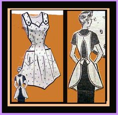 Vintage Sewing Pattern 1950s Apron Full Body DARLING! from toinetterl on Ruby Lane