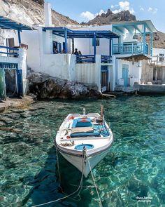 - Passione Grecia - [🇬🇧Fisherman's house in Milos island, Cyclades] 👉🏻. Greek Islands To Visit, Best Greek Islands, Greece Islands, Greek Islands Vacation, Places To Travel, Places To Go, Travel Destinations, Greece Destinations, Most Beautiful Greek Island