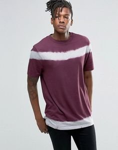 ASOS T-Shirt With Tie Detail And Wide Neck Trim