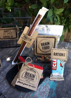 Fun idea for a Fathers Day gift! Use these free printables to make a Daddy's Zombie Survival Kit.