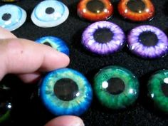 Resin cast eyes you can use for your fursuits or other creations from furryecho.com    You can get them in:  1 inch  1 1/4 inch (in video)  1 1/2 inch  2 1/2 inches