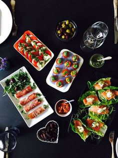 LCHF tapas or appetizers - no grains, not gluten, no sugar. Incredibly easy to make and so delicious. Check out the many ideas here:…