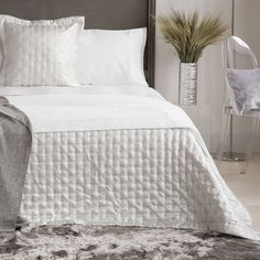 SILVER MINI DIAMOND JACQUARD CUSHION COVER AND QUILT - Quilts - Bedroom | Zara Home United Kingdom