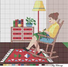 Deseni yine burada...( I Love Knitting )Designed by Filiz Türkocağı