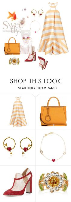"""""""Fish out of water"""" by juliabachmann ❤ liked on Polyvore featuring Fendi, Marie Hélène de Taillac, Alison Lou, Valentino, Dolce&Gabbana, Ødd., women's clothing, women, female and woman"""