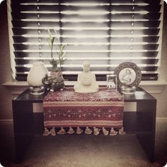 my low budget meditation table altar