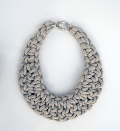 hand made necklace realized with sailing rope