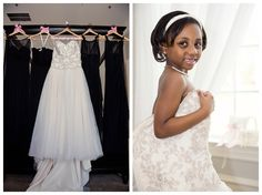 Dresses and flower girl in bride's dress at The Milestone Denton by brittanybarclay.com