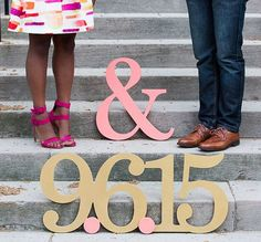 Items similar to Date Sign for Save The Dates, HUGE Engagement Photo Signs in Custom Colors and Glitter - Save the Date Card Idea (Item - on Etsy Save The Date Text, Save The Date Fotos, Save The Date Cards, Engagement Photo Props, Engagement Pictures, Engagement Shoots, Wedding Engagement, Wedding Photography Props, Engagement Photography