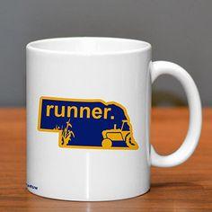 Nebraska Runner Ceramic Mug - Show off your pride for Nebraska with this great Nebraska Runner Ceramic Coffee Mug.