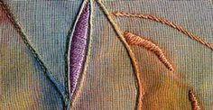 Puntada de satén acolchado en el Diccionario Sharon B de puntadas de bordado a mano y costura