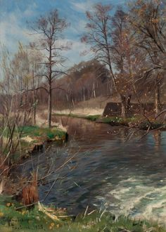 Landscape with Stream, 1929, Peder Mørk Mønsted