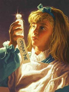 "Greg Hildebrandt's version of Alice |  ""Alice's Illustrated Adventures In Wonderland: Chapter 1 ~ Down The Rabbit-Hole"" 