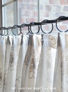 When to Use Pleated Sheer Cafe Curtains | Beyond the Screen Door