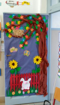 Examples of trash bucket design Classroom Door, Classroom Displays, Classroom Themes, Preschool Crafts, Easter Crafts, Crafts For Kids, Arts And Crafts, Board Decoration, Class Decoration