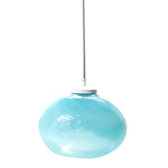 GLASS LAMP pastel turquoise. A charming addition to your home, this glass hanging lamp is crafted by hand and features a coloured finish that may vary among the products.