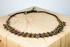 "Halskette ""Berry Forest"" Fair Trade, Berry, Beaded Bracelets, Jewelry, Fashion, Rhinestones, Neck Chain, Schmuck, Moda"