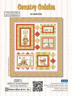 Country Cuisine Quilt #1 by Isabelle Biche