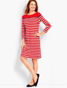 prdi44540 - Stripe Interlock Dress
